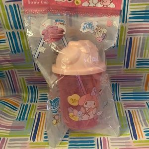 My melody straw plastic cup
